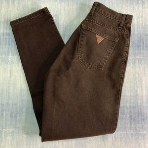 Vintage Guess Jeans Brown Denim High Waist Mom